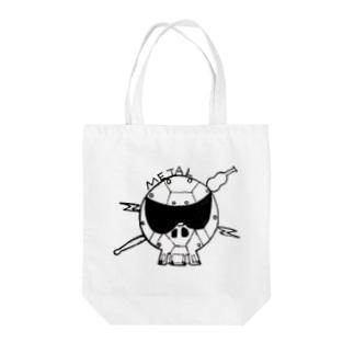 メタル スカル Tote bags