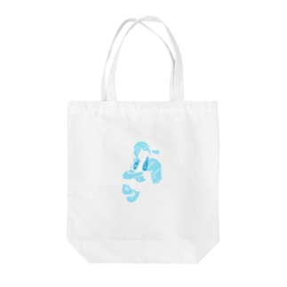CRYING Tote bags