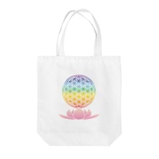 虹FOLと蓮 Tote bags