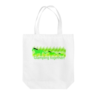Glamping together! Tote bags