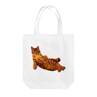 Elegant Cat 2 Tote bags