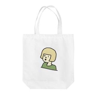 okappa riko 白人 Tote bags
