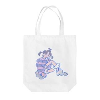 グッモーニンちゃん Tote bags