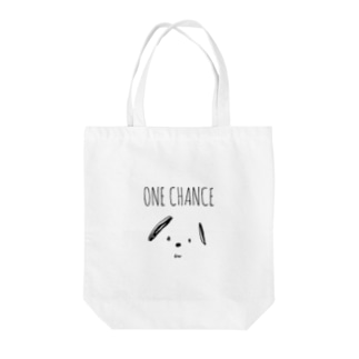 ONE CHANCE DOG Tote bags