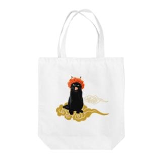 【B】赤鬼さんと金雲 Tote bags