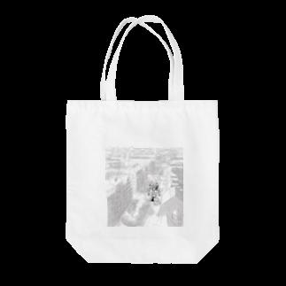 鳥と毛布の俯瞰シリーズ Tote bags