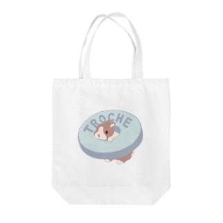 兎ローチ Tote bags