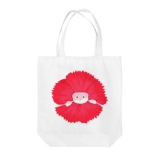 咲きほこるくま Tote bags