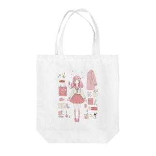 乙女の内訳 Tote bags