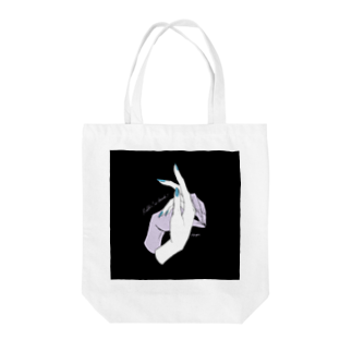 ElkRueのHand Sign_Rabbit Tote bags