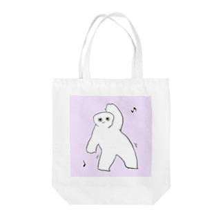 ダンシングくま Tote bags