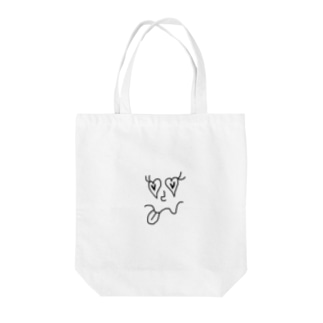 heart eyes Tote bags