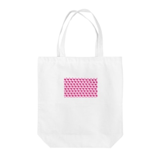 kana design factoryの3Dハートのかわいいパターン Tote bags