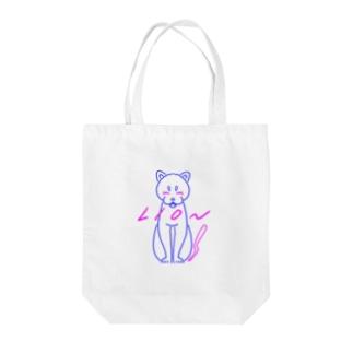 ブルーライオン(白地version) Tote bags