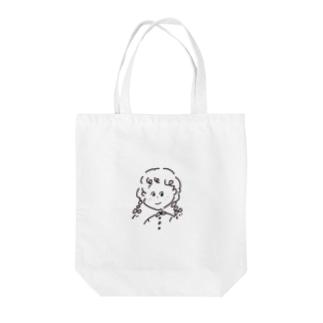 381ラクガキガール Tote bags