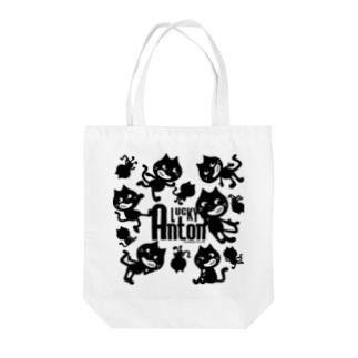 Lucky Anton チラバリ [ブラック] Tote bags