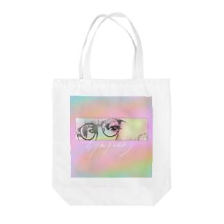 sympathy ネオン Tote bags