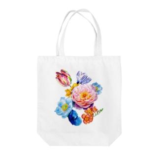 flowers 陰 Tote bags