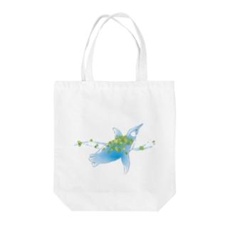 幸せを運ぶペグくん Tote bags