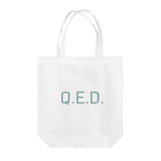 理数 理系 Q.E.D. パステルカラー Tote bags