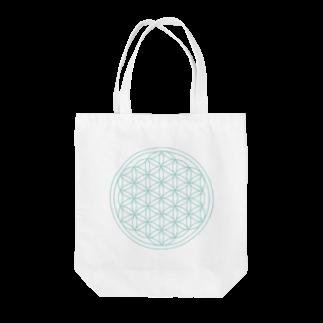 agehadouのフラワーオブライフ(aqua) Tote bags