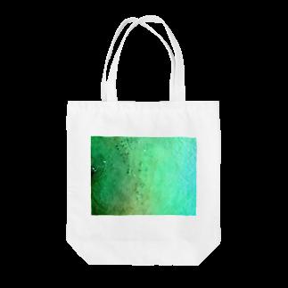 古春一生(Koharu Issey)のメロンソーダの海。(濃薄) Tote bags