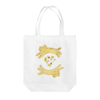 【bag】猫 イラスト Tote bags