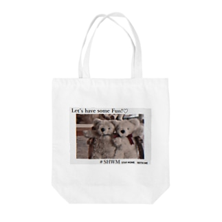 #stay home with me Tote bags