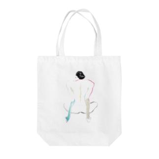 ヌードクロッキーO Tote bags