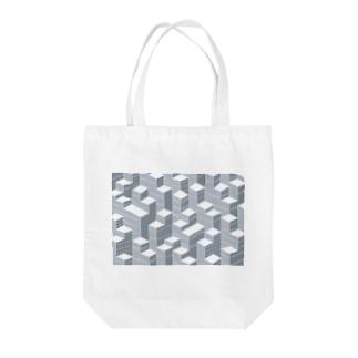 アクソメ都市 Tote bags