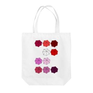 傘の花 あか Tote bags