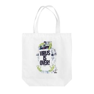 オオシロムネユミ AND SHOUT Tote bags