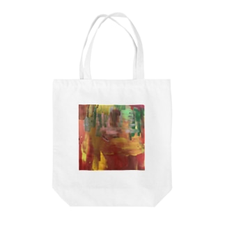 orange×white Tote bags