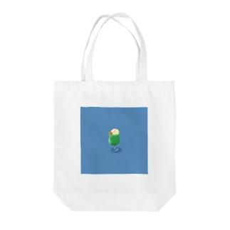 着地クリームソーダ Tote bags