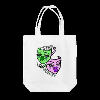 K×K のSTAY JUICY🥵💦 Tote bags