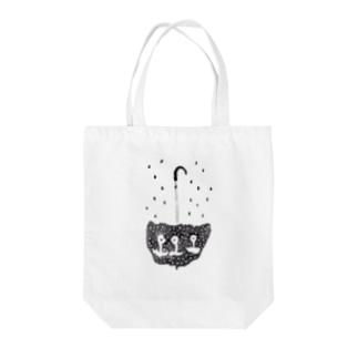 雨ふり Tote bags