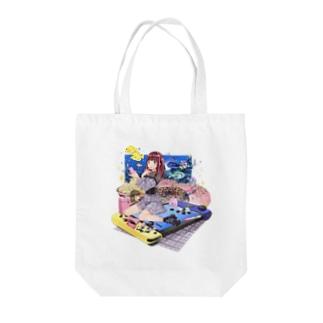 フナタン商店の最高にかわいいトートバック Tote bags