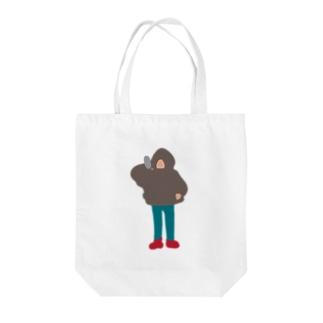 地球人(フード男) Tote bags