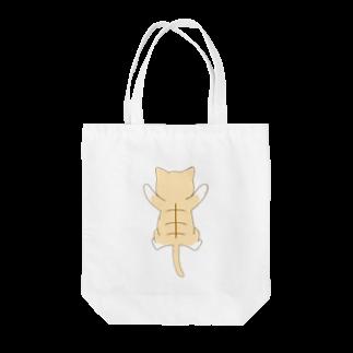 ゆめかわ屋 いそぎんちゃくのしがみつく茶白猫 Tote bags