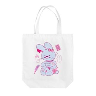 💘ロコ子🎀の病み期終盤のうさぎちゃん Tote bags