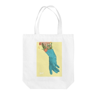 HOPE HAND Tote bags
