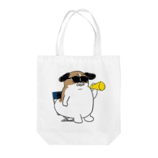 もじゃまる監督 Tote bags
