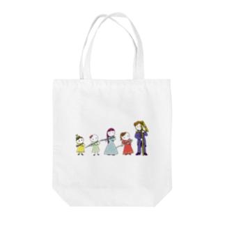 フルートファミリー with コントラ男子 Tote bags