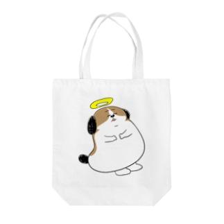 もじゃまる昇天 Tote bags