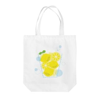『ぎっしりレモン』 Tote bags
