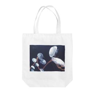 サイバークラゲ Tote bags