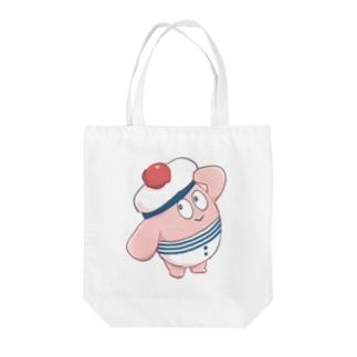 マリーンうさちゃんバッグ Tote bags