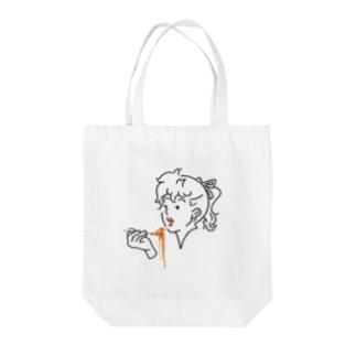 スパゲティ・ペロリーナ Tote bags