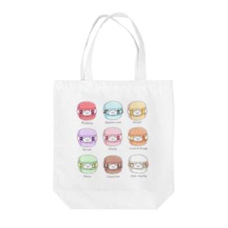 ちーくマカロン Tote bags