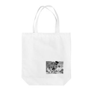 花を受け渡して Tote bags